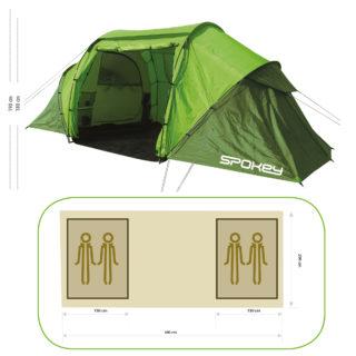 TIMBERLANE 2+2 - Campingzelt