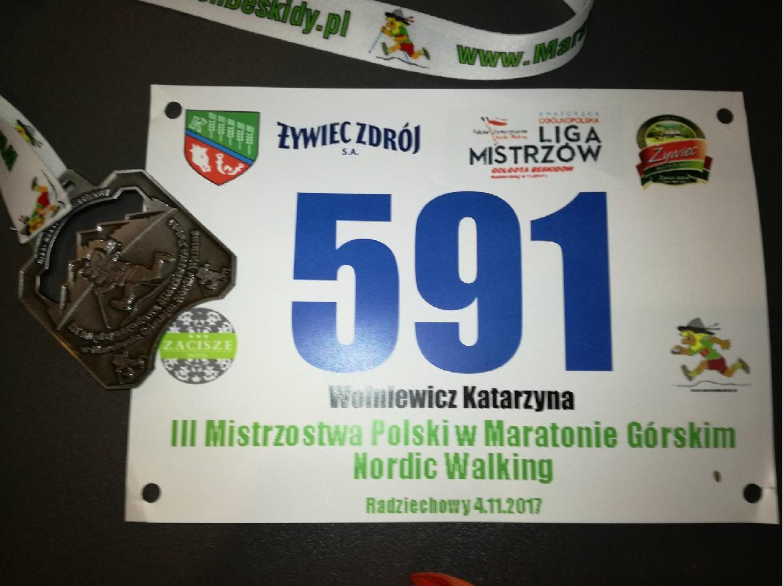 Międzynarodowe Mistrzostwa Polski w Maratonie Górskim Nordic Walking.
